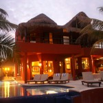 Riviera Maya Beach Villa Night View
